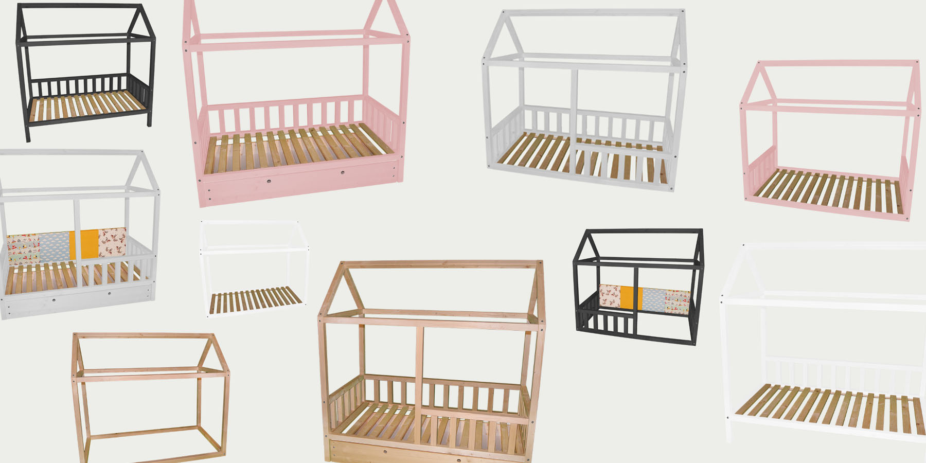 łóżko Domek Pełna Konfiguracja łóżka W Kształcie Domku Meble Dziecięce Premium